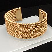 Rope Design Cuff Bracelet Vintage Avon