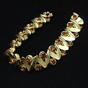 Trifari Vintage Bracelet with Topaz Rhinestones