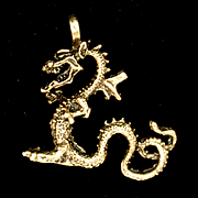 Dragon Pendant Nicely Detailed Vintage