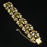 Topaz Rhinestones Bracelet Vintage Florenza