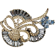 Rhinestone Brooch Pin Unsigned Beauty