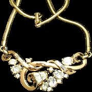 Trifari Rhinestone Necklace Vintage pat. pend.