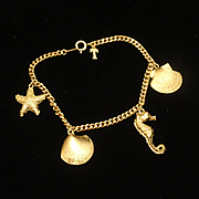 Beach Lover's Charm Bracelet Vintage