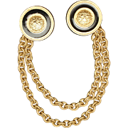 Cape Clasp with Two Buttons and Double Swag Chain