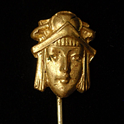 Woman from 1920's Stick Pin Vintage