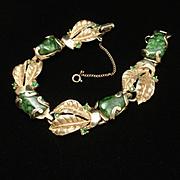 Vintage Bracelet Green Stones Denbe