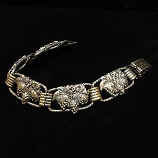 Vintage Bracelet with Grapes on each Segment