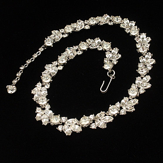 Trifari Rhinestone Necklace Vintage