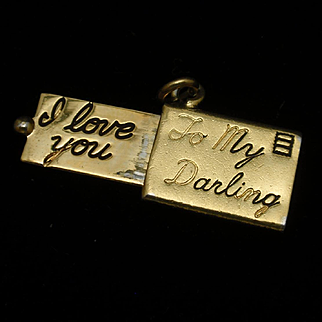 Love Letter Charm To My Darling I Love You Vintage Mechanical
