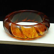 Bangle Bracelet Vintage Imitation Tortoiseshell