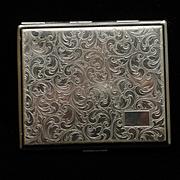 German Silver Cigarette Case Vintage