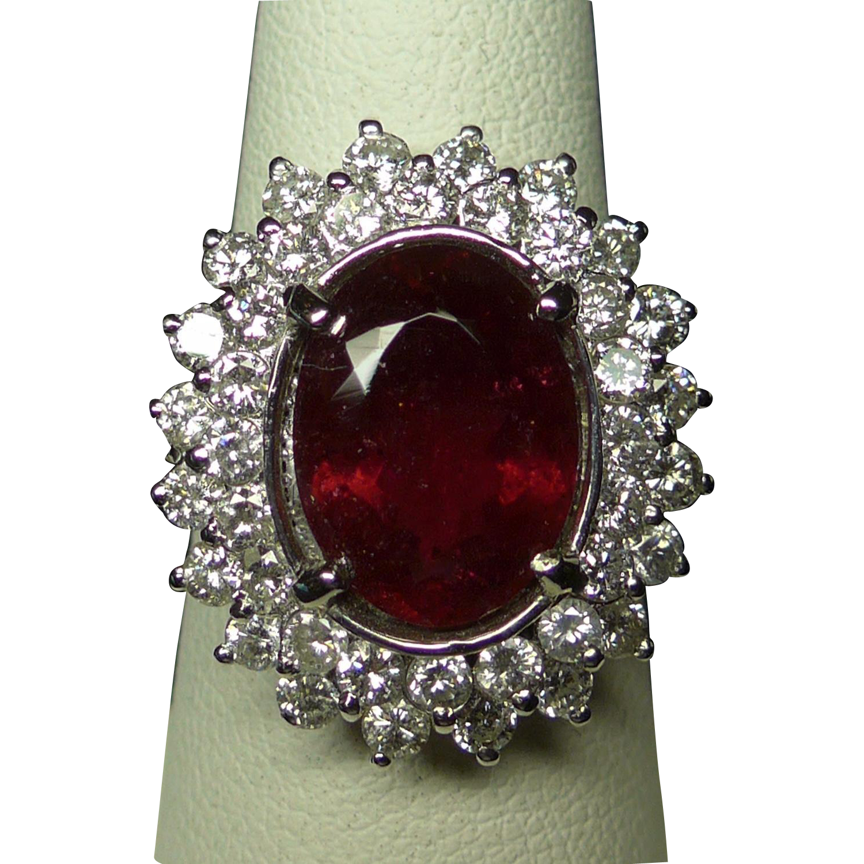 Rubellite Tourmaline Amp Diamond Ring From