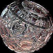 Antique Rose Bowl, potpourri, pressed glass near mint condition