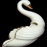 Vintage Lenox Swan creamware vase