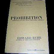 Vintage Book, Prohibition, Edward Behr, Arcade, NY, 1996