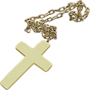 Necklace:Bakelite, butterscotch, Christian religious crucifix