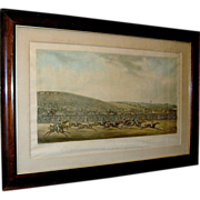 Print:Aquitint, Equestrian, races, Epsom, H. Alken