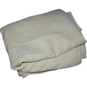 Textile, bolt of linen, ecru, unfinished