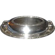 Silver-plated serving dish, Oneida, covered