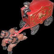 Toy, cast iron, circus wagon, original