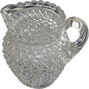 Pitcher, EAPG, pressed glass, applied handle