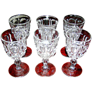 Vintage Pattern Glasses in a set of 5 tumblers - Red Tag Sale Item