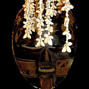 Vintage Tribal Mask, handmade, c 1900