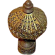 Lamp finial, Art Nouveau, circa 1900, brass
