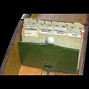 Vintage Mahogany Recipe Box with index