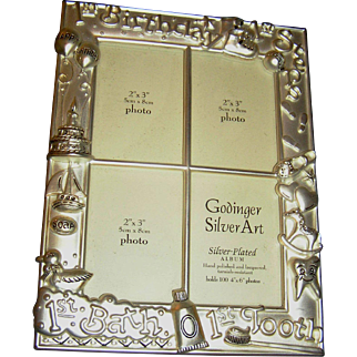 Picture Album, Baby's First, velvet lined, silverplate, never used! exc.