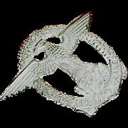 Pin or badge, pot metal, ENGLAND AWAKE, WW11 type on the skell, popular with bikers, original
