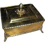 Vintage Solid Brass box from India, Late 20th c. with the lid - Red Tag Sale Item