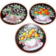 Three Decorative Wall Plates of assorted fruit. Excellent!