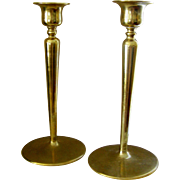 Brass Candlesticks in a simple, stylish retro design