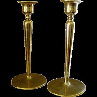 Brass Candlesticks in a simple, stylish retro design