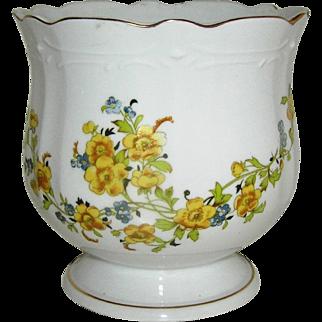 Vintage Jardiniere, porcelain, floral motif, 20th c.