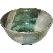 Ceramic bowl, signed J. Parker, Raku
