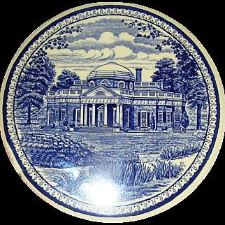Staffordshire Wall plaque of Jefferson's Monticello