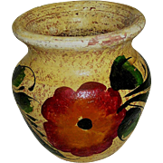 Vintage Clay Pot, marked Mexice, handmade and hand painted, 20th c.