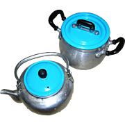 Children's Aluminum toy cookware, pitcher and covered pot