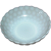 "Opalescent white bowl, 8 1/4"". in excellent condition"