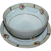 Noritake marked bowl and underplate with a chip on the lip