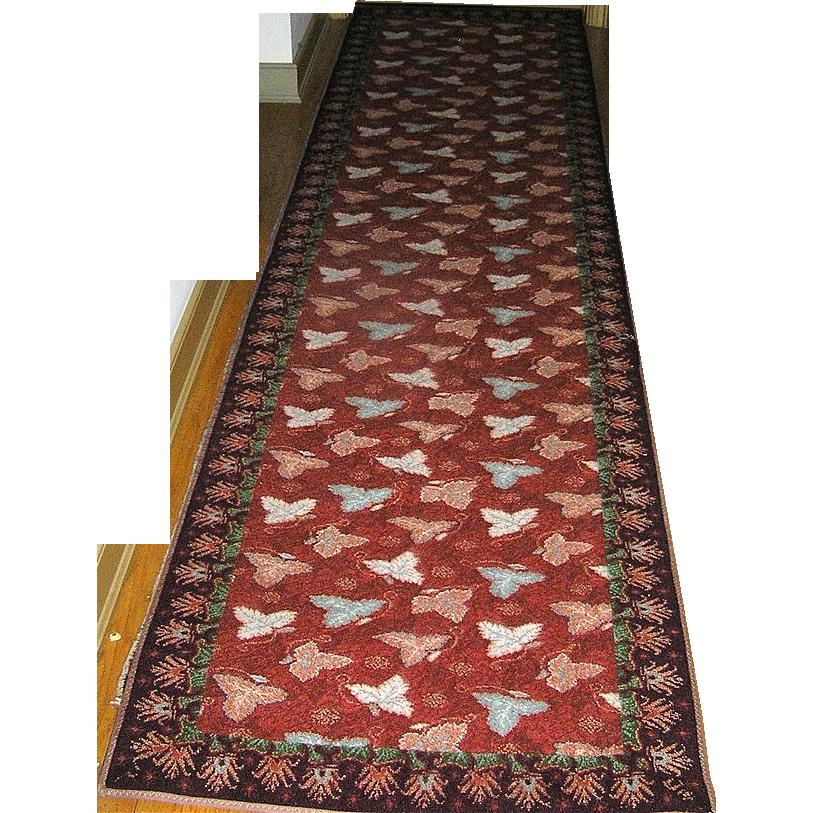 "Carpet Runner by Stark Co Vintage Approximately 10' 11"" x 2.8"""