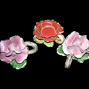 Capidomonter Candle holder set, Flower and foilage motif