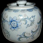 Ginger Jar by Sadek, light blue of an off white, very nice