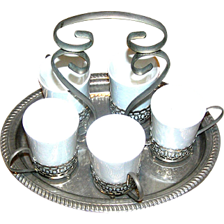 Wedgwood Demitasse set, all marked and on a marked tray!