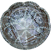 Cut Glass Bowl, Brilliant Period, Unflawed, circa 1895