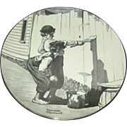 Norman Rockwell Collector's plate, Ridgewood Fine China, 1974, limited edition