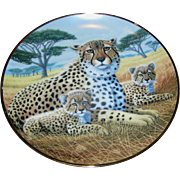 Collector's plate, Cheetah with Cubs, The National Wildlife Federation, Limited Edition no F2015