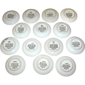 Vintage Zolan Dishes Donald Zolan Summer's Child sixteen small plates
